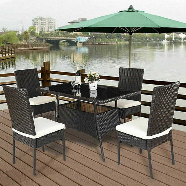 Leedom 5 Piece Dining Set With Cushions By Ebern Designs