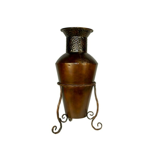 Goyette Vintage Metal Pot Planter by Fleur De Lis Living