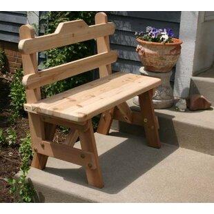 Cedar Tab Back Bench