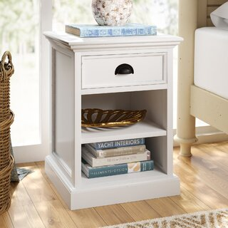 Amityville 1 Drawer Nightstand by Beachcrest Home SKU:DA607383 Buy