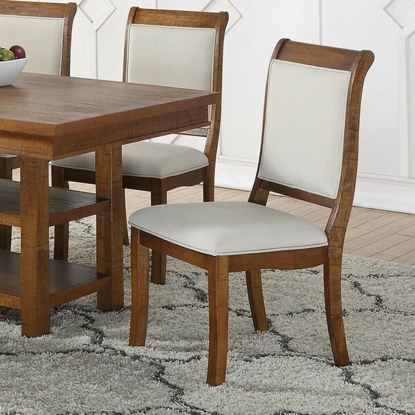 Fabien Wooden Upholstered Dining Chair (Set of 2) by Gracie Oaks