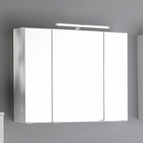 90 cm x 64 cm Spiegelschrank Dessie mit Beleuchtung Perspections Farbe: Weiß | Bad > Badmöbel > Spiegelschränke fürs Bad | Perspections