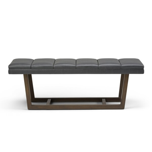 Hammock Faux Leather Bench by George Oliver
