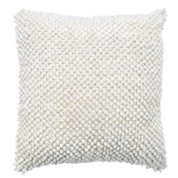 Kwiatkowski Felt Ball Cotton Throw Pillow by Wrought Studio