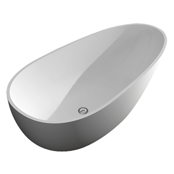 Marisol 58 x 29 Freestanding Soaking Bathtub by Transolid