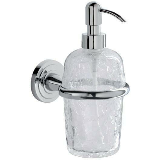 Pembroke Wall Crackled Glass Pump Soap & Lotion Dispenser by Rosdorf Park