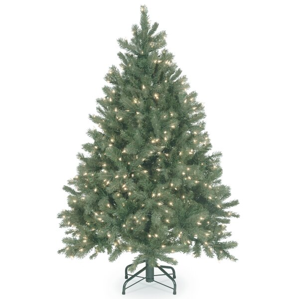 Downswept Douglas Green Fir Artificial Christmas Tree with Clear Lights with Stand by The Holiday Aisle