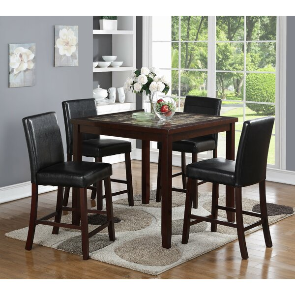 Krieger 5 Piece Pub Table Set by Red Barrel Studio