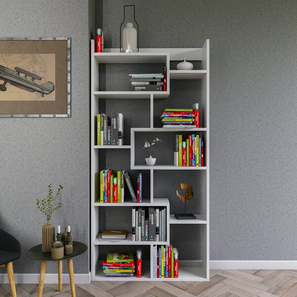 Amergin Geometric Bookcase By Latitude Run