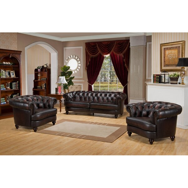 Roosevelt 3 Piece Leather Living Room Set by Amax