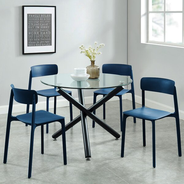 Darleen Contemporary 5 Piece Dining Set by Wrought Studio