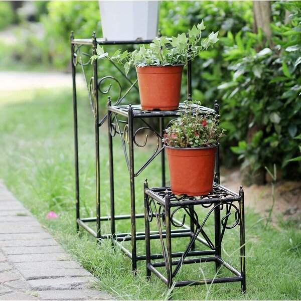 Square Cast-Iron Plant Stand Set (Set of 3) by ORE Furniture