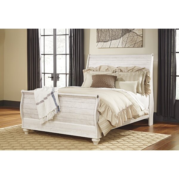 Theus Sleigh Bed by Charlton Home