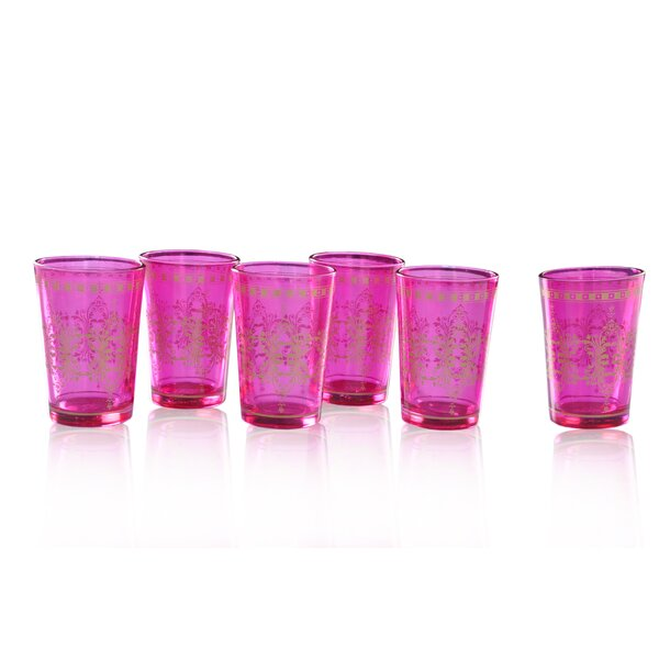 Moroccan Tea Crystal Every Day Glass (Set of 6) by Divine Designs