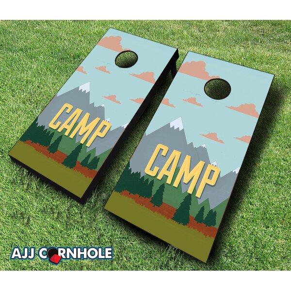 Camp Themed Cornhole Set by AJJ Cornhole