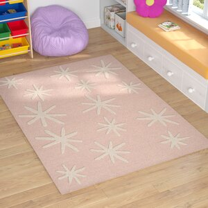 Claro Starbursts Hand-Tufted Pink Area Rug
