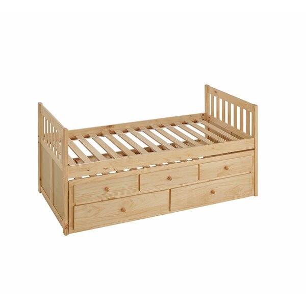 Spigner Twin Captain Bed with Trundle by Viv + Rae