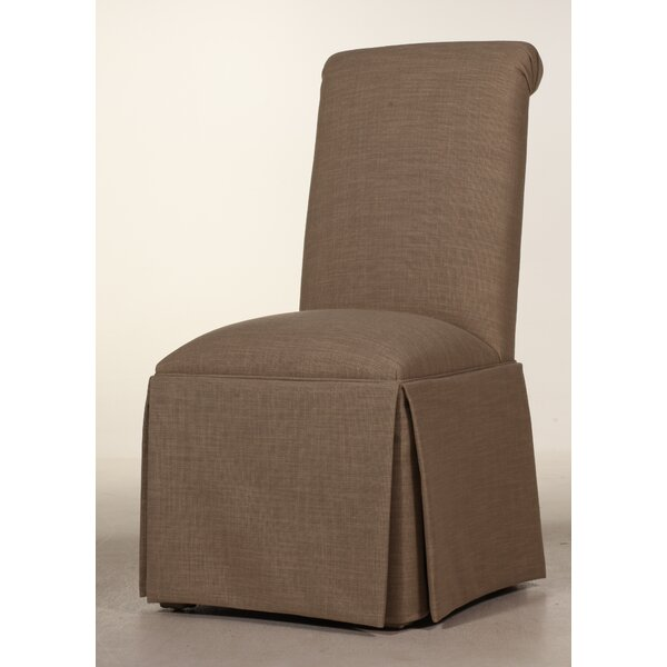 Best #1 Weare Solid Back Skirted Upholstered Dining Chair By Alcott Hill Wonderful