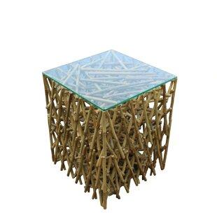 Lefkoniko Maze Bamboo End Table