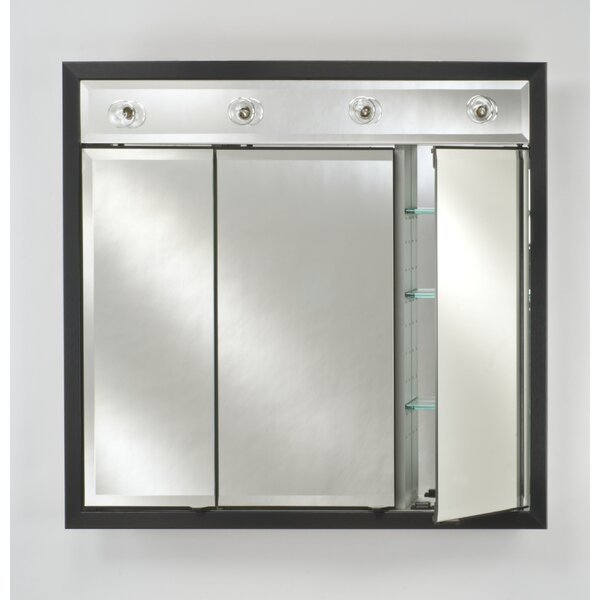 Signature 34 x 34 Recessed Medicine Cabinet with Lighting by Afina
