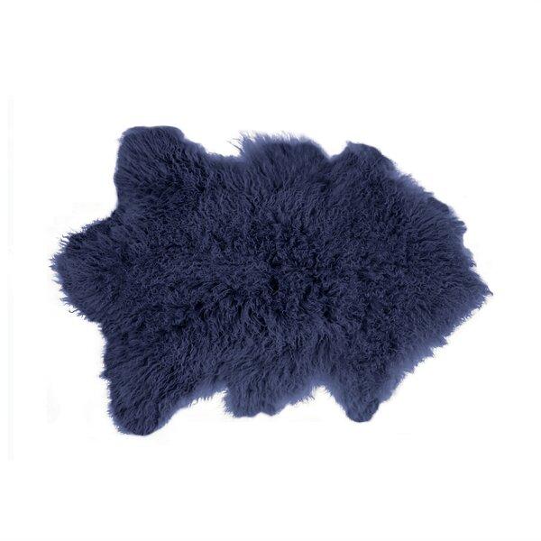 Rockwall Faux Sheepskin Purple Area Rug by Luxe