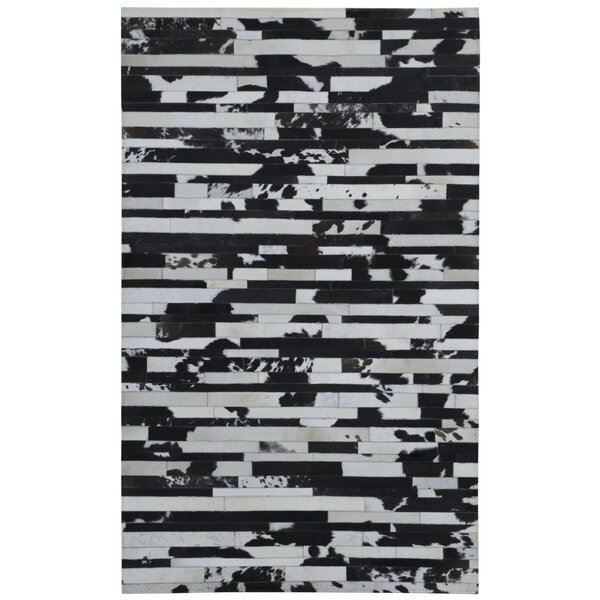 Sandford Hand-Woven Black/Tan Area Rug by Ivy Bronx