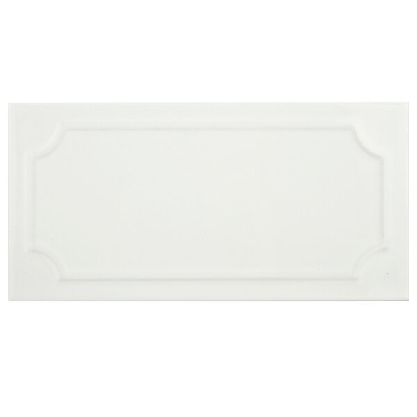 Thira 4 x 7.88 Ceramic Subway Tile in Blanco by EliteTile