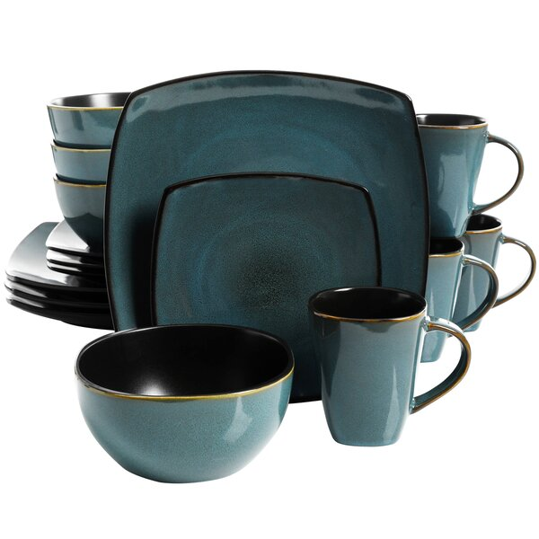 Kendell 16 Piece Dinnerware Set, Service for 4 by Winston Porter