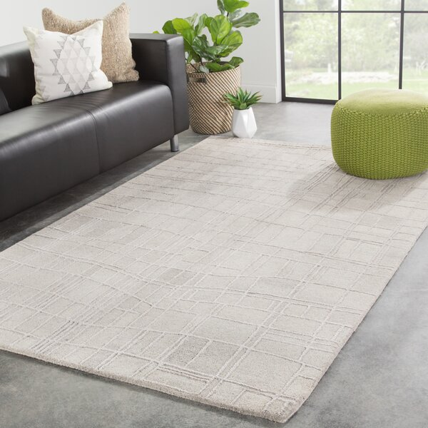 Boston Hand-Tufted Light Gray Area Rug by Wrought Studio