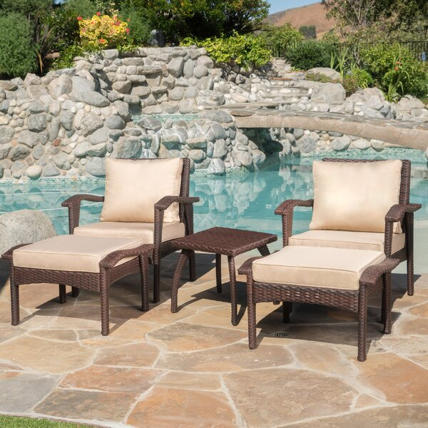 Springboro 5 Piece Conversation Set with Cushions by Alcott Hill