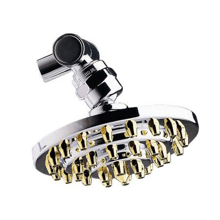 4 Three Tiers Brass Volume Control Shower Head by Elements of Design
