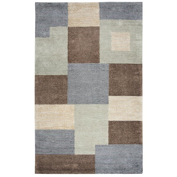 Hogan Hand Tufted Wool Gray/Green Area Rug by Red Barrel Studio