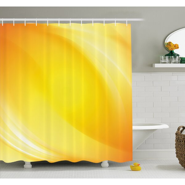 Radiate Light Lines like Sand with Digital Reflection Shower Curtain Set by Ambesonne