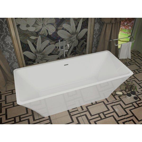 Arden 66.5 x 29.4 Freestanding Soaking Bathtub by ANZZI