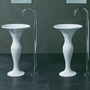 Find a Formosa Ceramic 20 Pedestal Bathroom Sink By Aquatica
