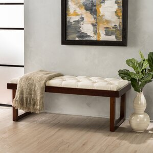 Marcus Upholstered Bench by Latitude Run