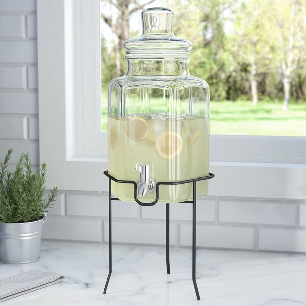 Landen 1.3 Gallon Beverage Dispenser by Three Posts