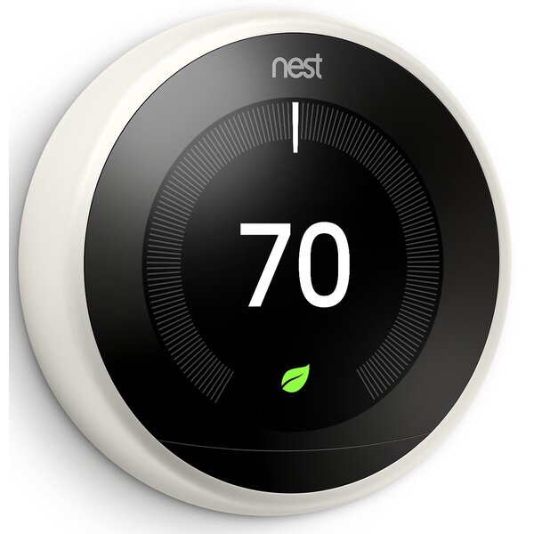Google Nest White Wi-Fi Enabled Thermostat By Google Nest