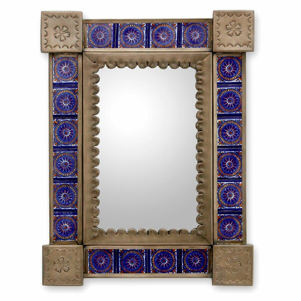 Yoakum Tin and Ceramic Wall Mirror by Bloomsbury Market