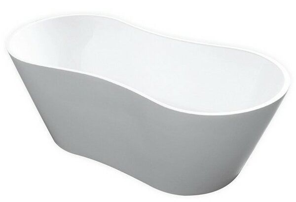 Onde 66 x 30 Freestanding Soaking Bathtub by Kube Bath