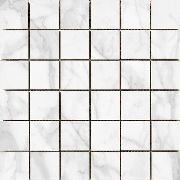 Quest Polished 2 x 2 Porcelain Mosaic Tile in White by Emser Tile