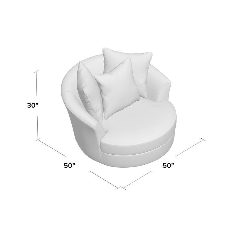 Villela Swivel Barrel Chair