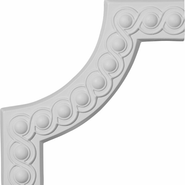 Foster 10 1/4H x 10 1/4W Running Coin II Panel Moulding Corner by Ekena Millwork