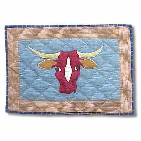Cowboy Long Horn Placemat (Set of 4) by Patch Magic