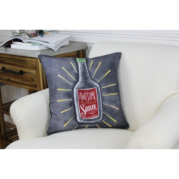 Awesome Sauce Throw Pillow by One Bella Casa