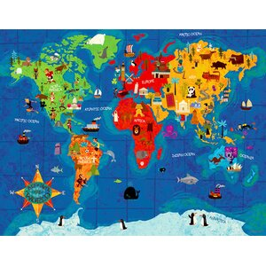 Big Wide World Canvas Art by Oopsy Daisy