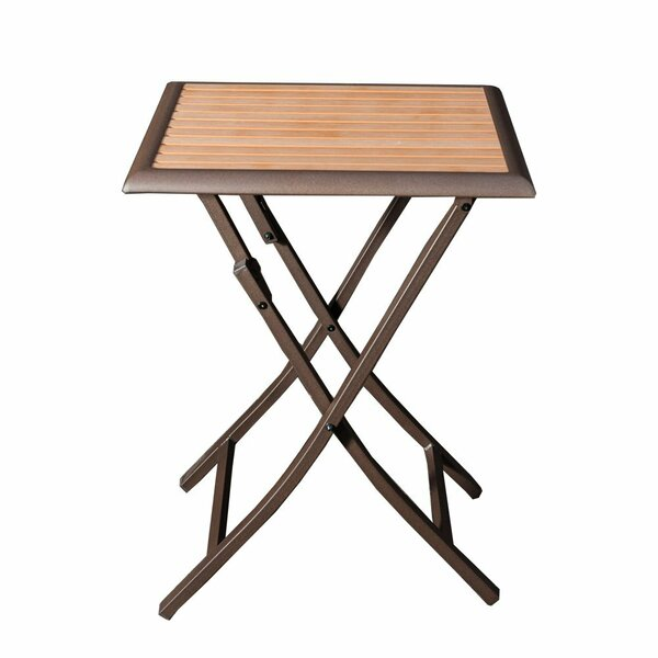 Mcaleer Folding Stand Bistro Table by Latitude Run