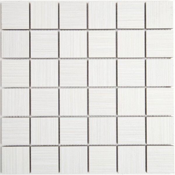 Fabrique 12 x 12 Ceramic Wood Look Tile in Blanc Linen by Daltile