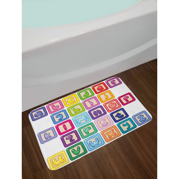 Colorful Multicolor Educational Bath Rug by East Urban Home