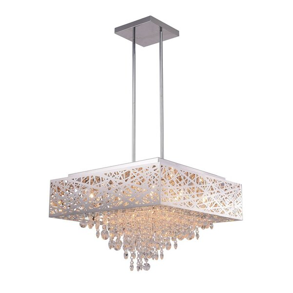 Langley 12-Light Unique / Statement Rectangle / Square Chandelier By Rosdorf Park